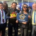 Em ato no Planalto, policiais e demais categorias pedem veto no PL do abuso de autoridade